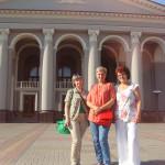 В Рівному - перед виїздом з журналістками з Тетяною Миргородською з Чернігова та Людмилою Островьскою з Тернополя