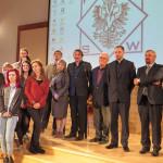 Після презентації фільмів - з керівництвом університету та укр.громадою
