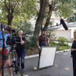 Зйомки на території Кіностудії в Одесі