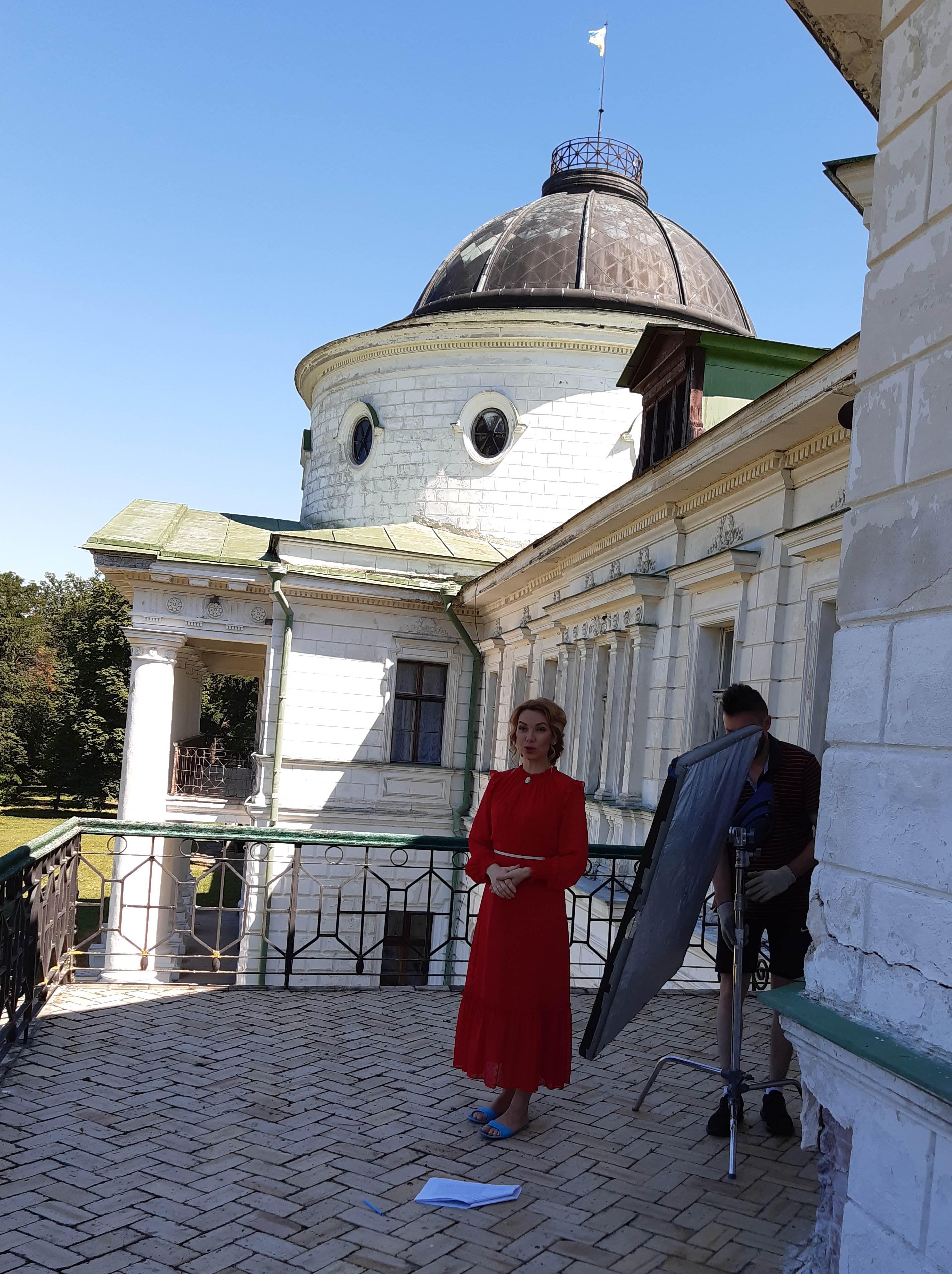 Зйомки на балконі палацу
