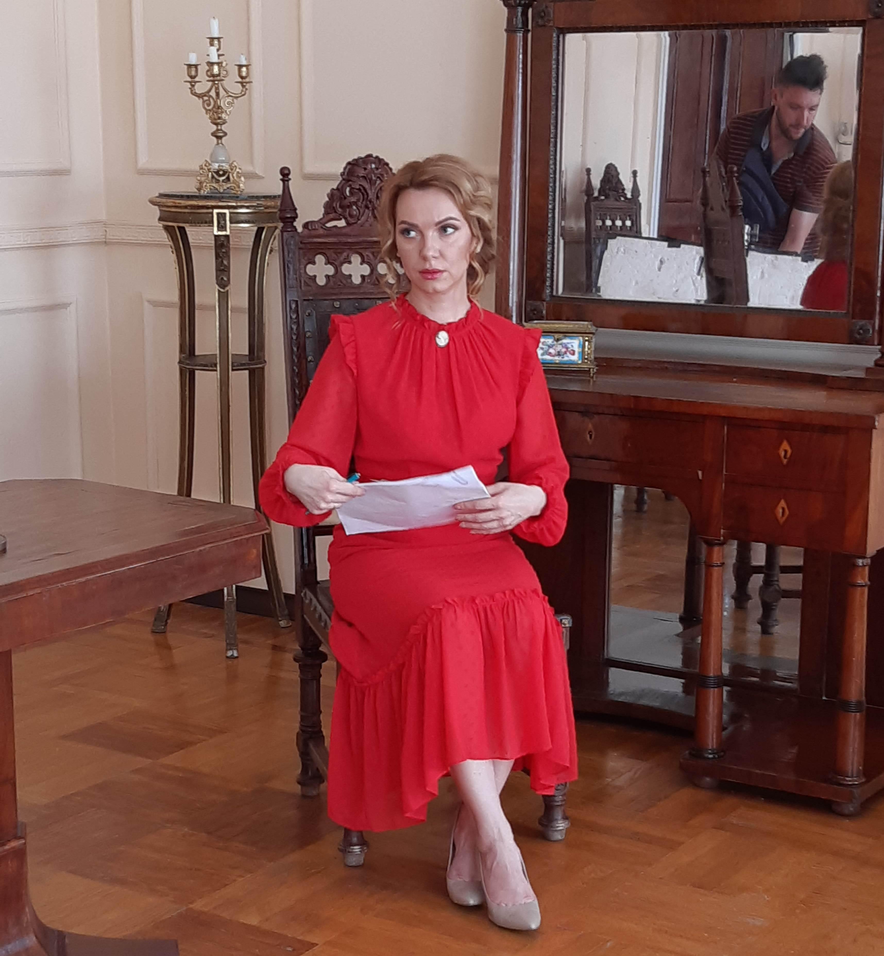 Наталка у фільмі про Тарновського