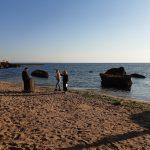 Ранковий режим на березі моря в Одесі