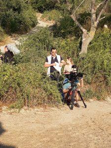 Знімальна група - на березі моря.